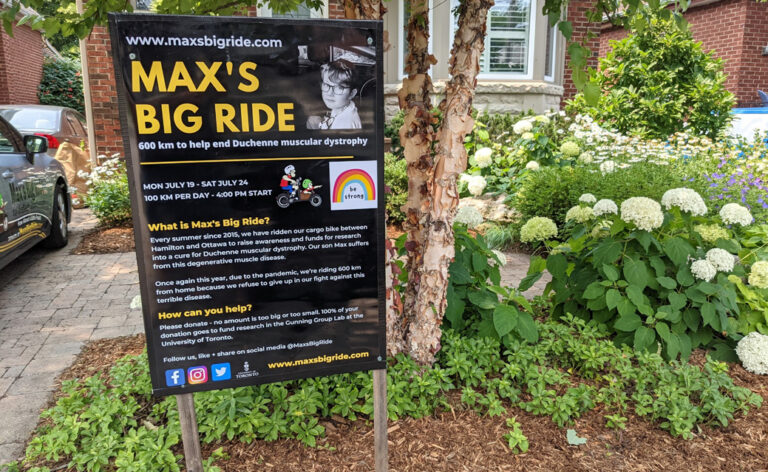 Max's Big Ride returns for its seventh annual ride Andrew Sedmihradsky cycles 600 kilometres to raise awareness and funds toward Duchenne Muscular Dystrophy research.